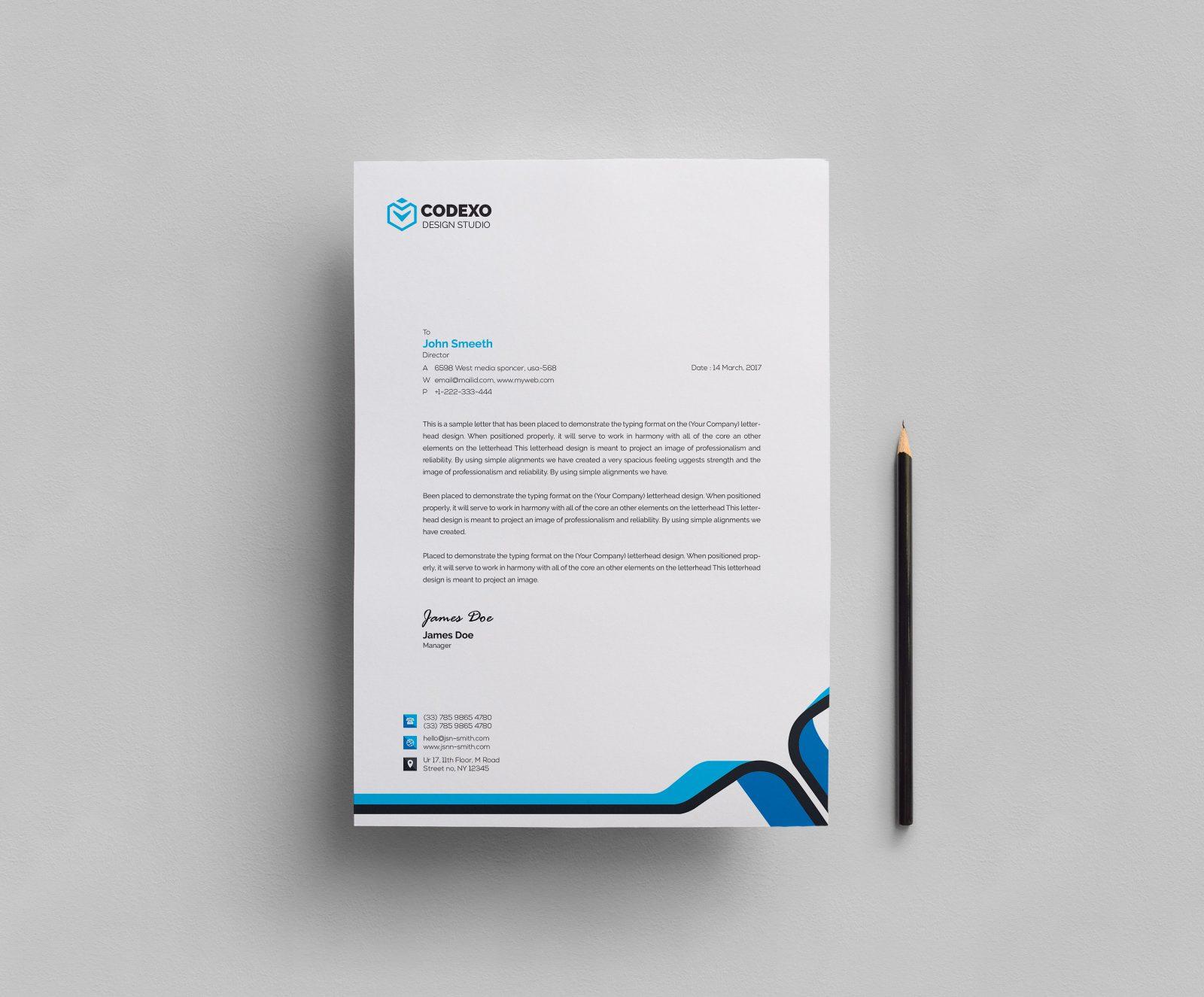Plain Letterhead Design Template 000407 Template Catalog