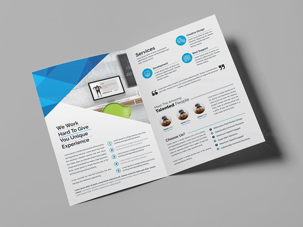 template of a brochure - professional bifold brochure template 000440 template