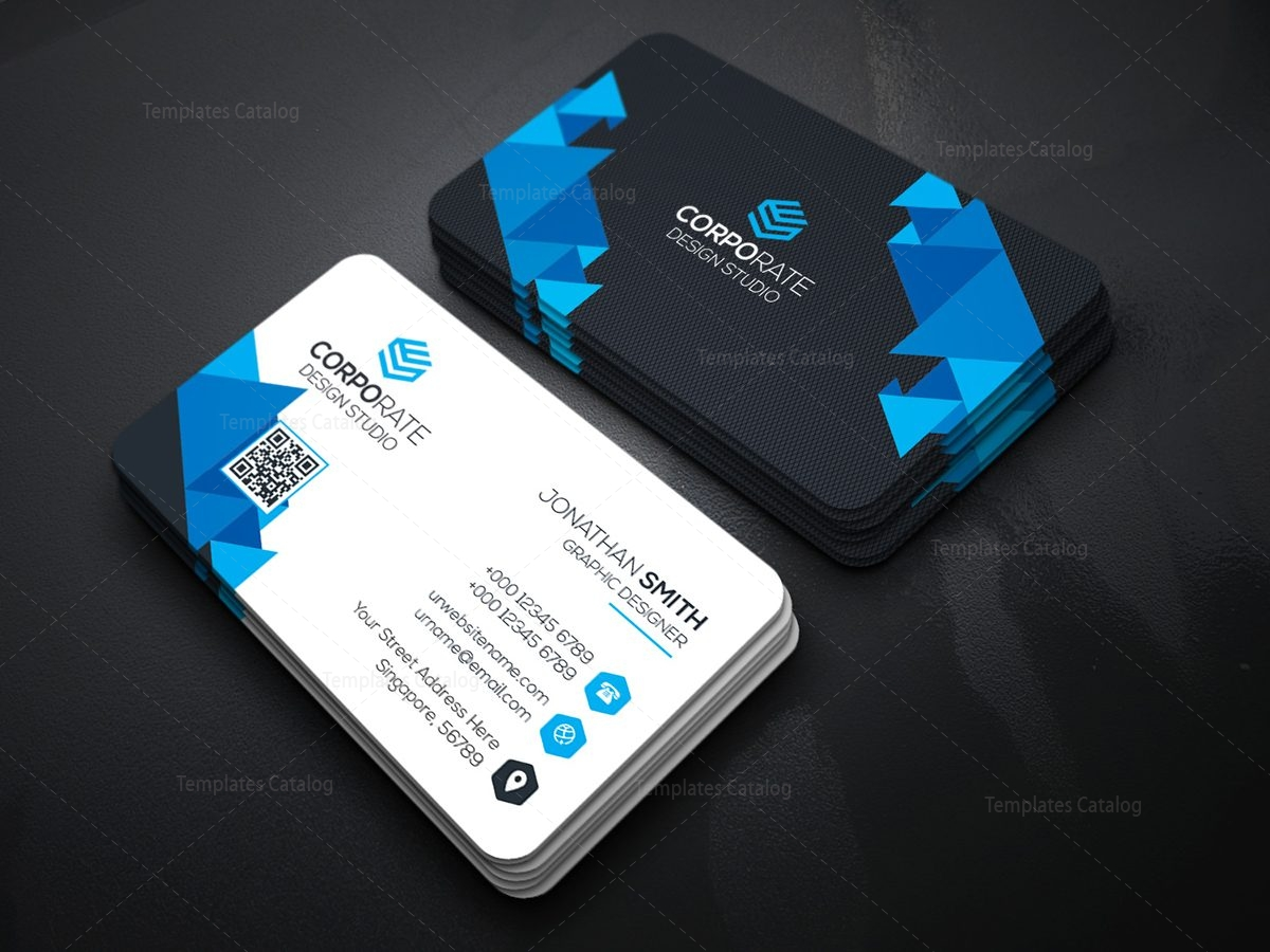 Professional Technology Business Card with Modern Design 000364 ...