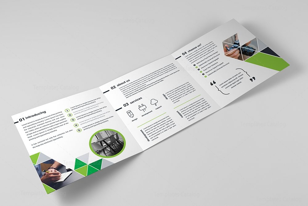Professional trifold brochure template 000430 template for Professional brochure templates