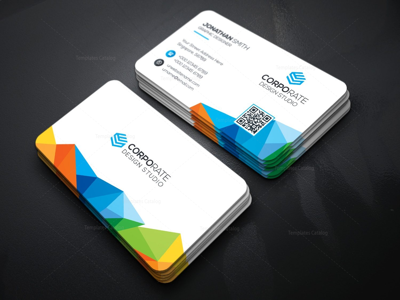 Rainbow Business Card Template 000361 - Template Catalog