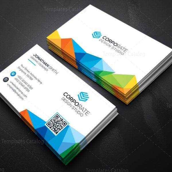 Rainbow Business Card Template 2