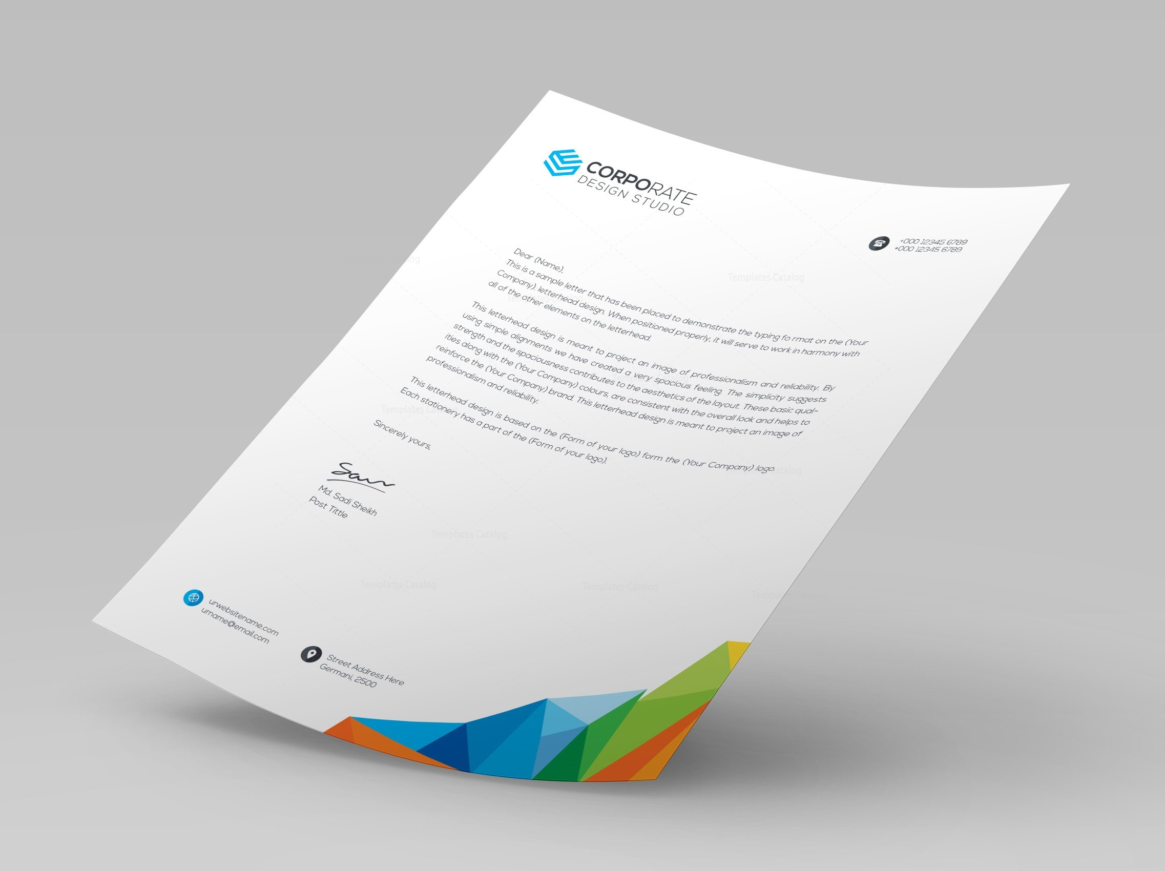 rainbow letterhead template 000402 template catalog