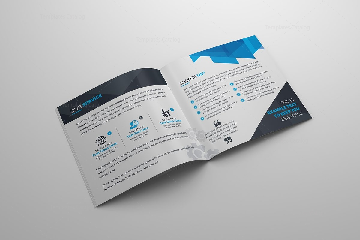 corporate brochures templates - real estate corporate bifold brochure template 000417