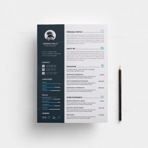 Resume Template with Modern Design