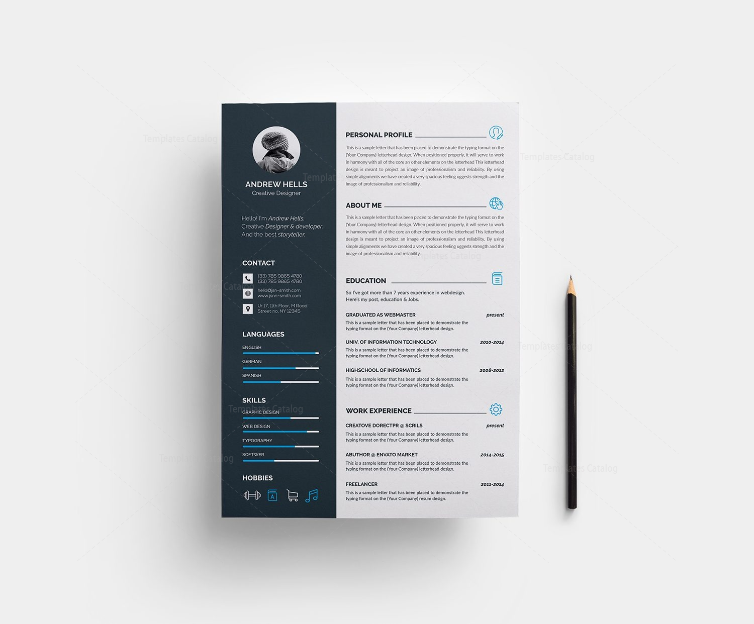 Resume template with modern design 000376 template catalog resume template with modern design 1 yelopaper Gallery
