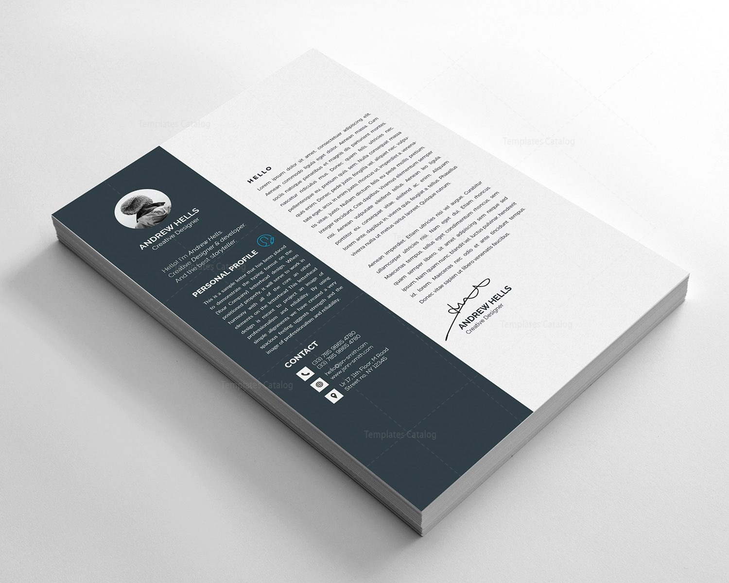 Resume Template With Modern Design 000376 Template Catalog
