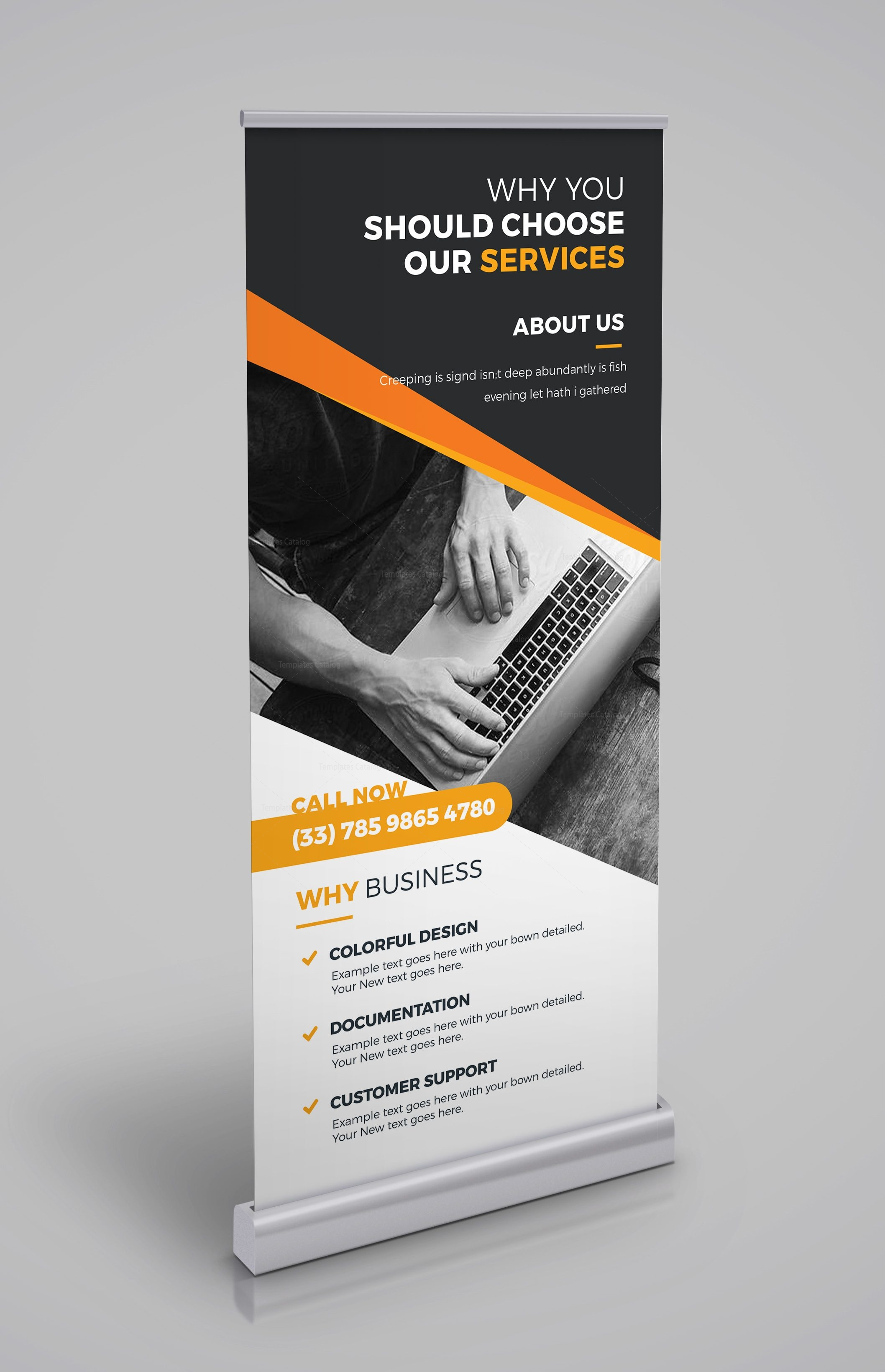 Roll Up Roll Up Read The All New Little Black Dress: Roll-Up Banner Template 000343