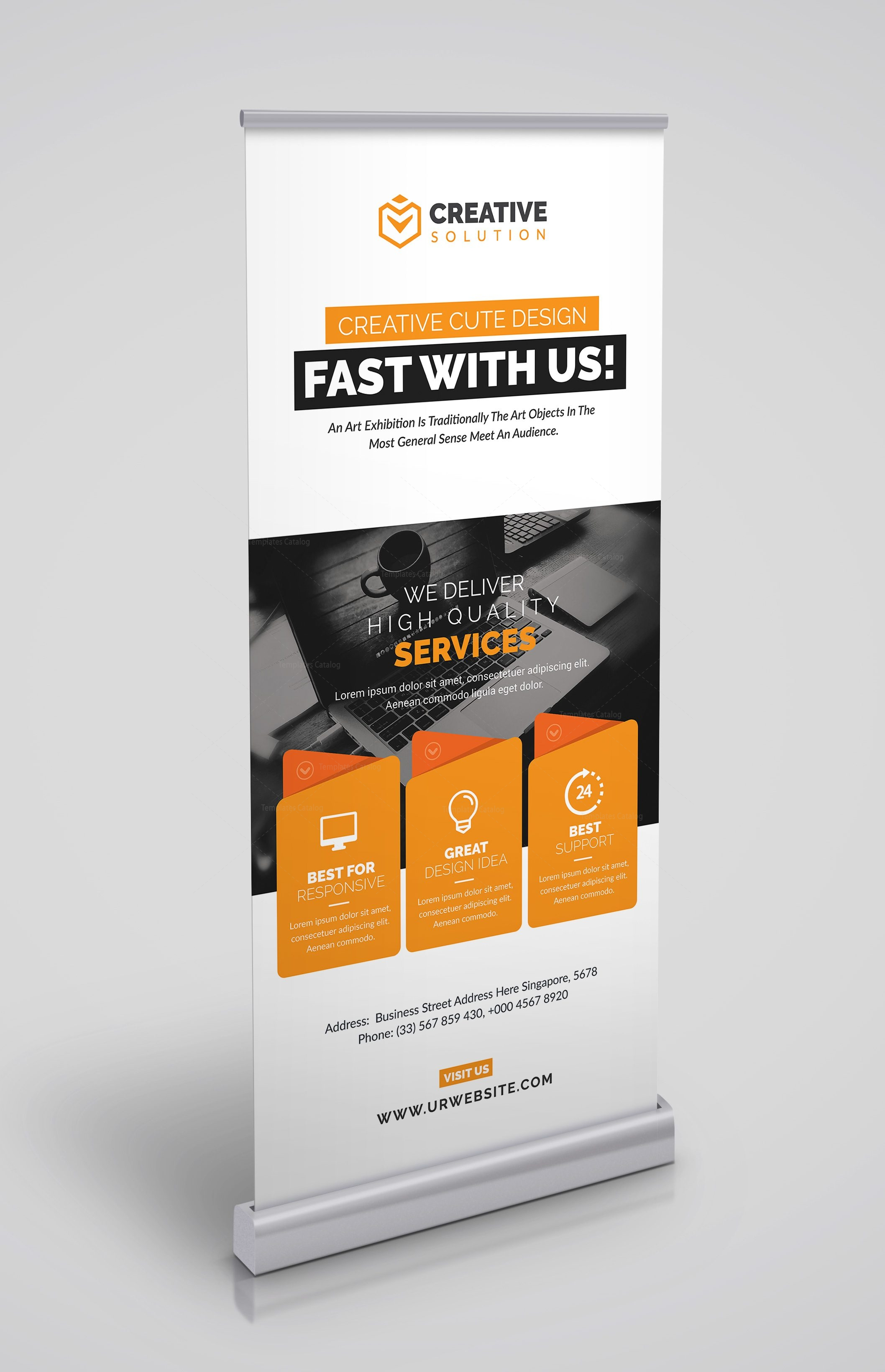 stylish rollup banner template 3
