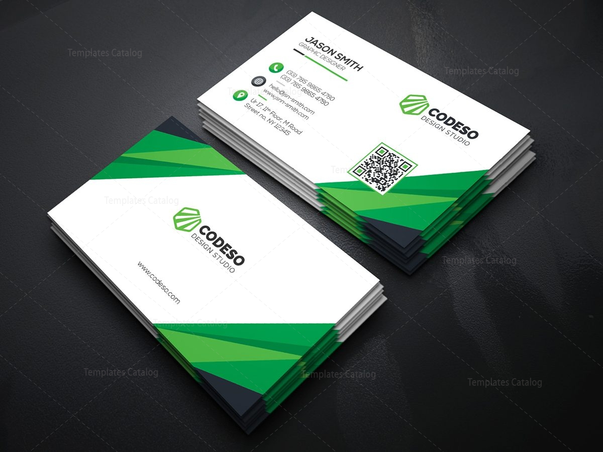 technology business card with modern style 000372