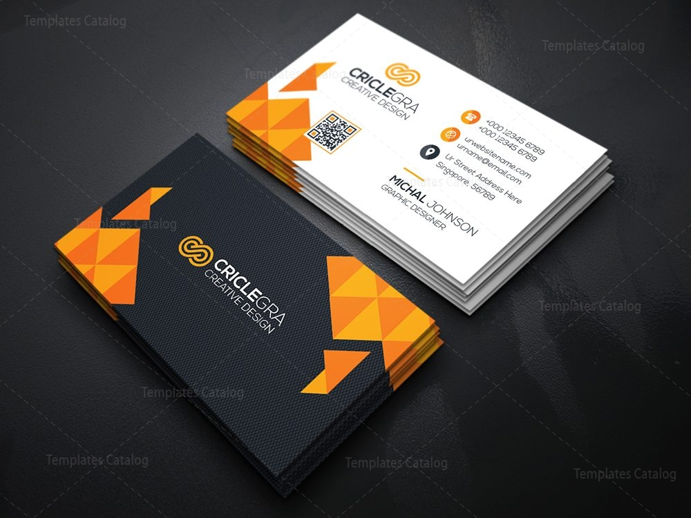 Technology Corporate Business Card 000360 - Template Catalog