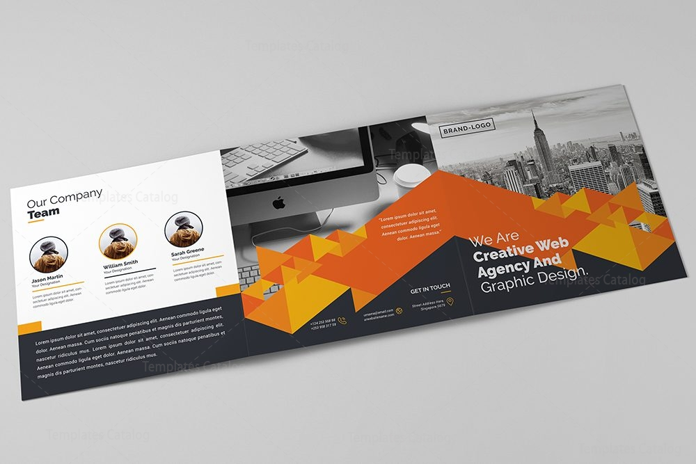 Trifold Corporate Brochure Template 000427 Template Catalog