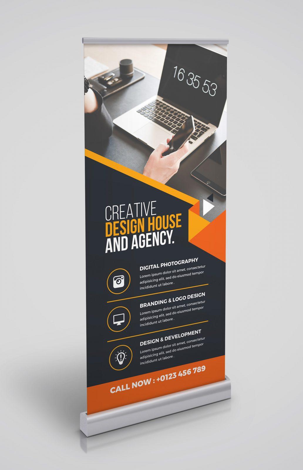 versatile rollup banner template 000347