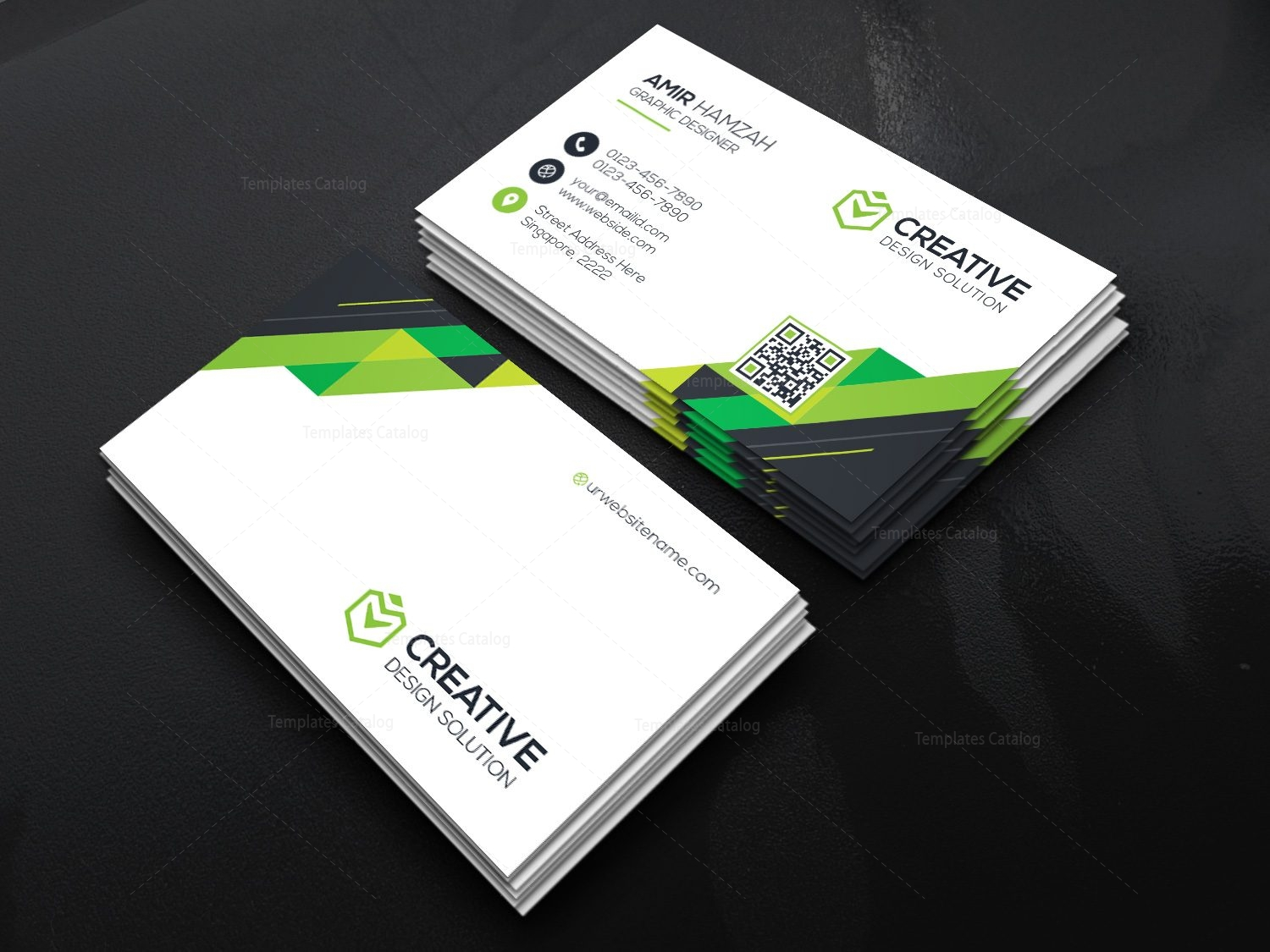 Beautiful Graphicriver Business Card Free Download Motif - Business ...