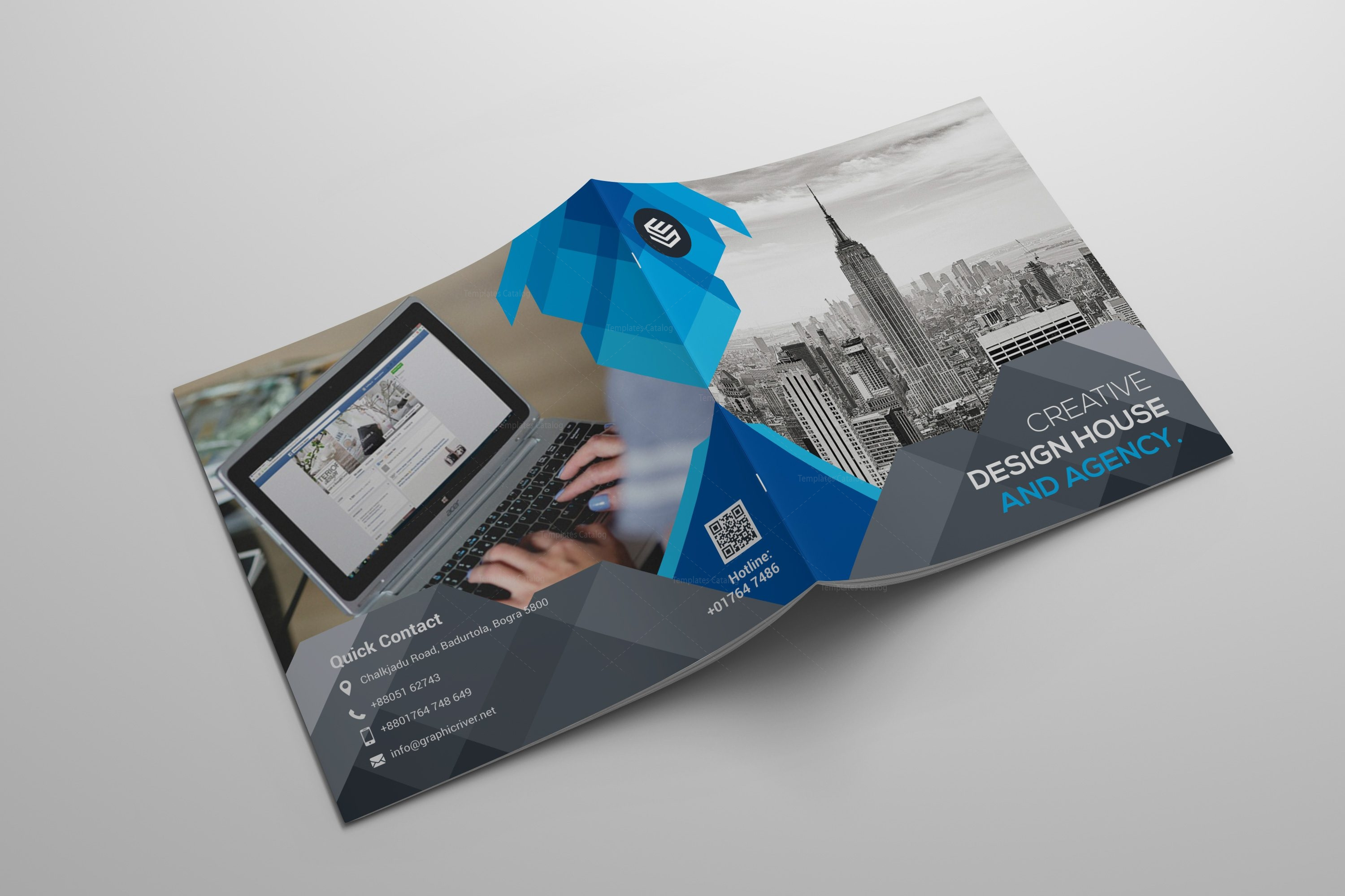 Agency firm brochure template 000585 template catalog for Ad agency brochure design