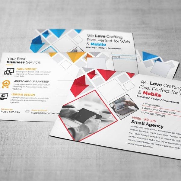 Agency Postcard Template Template Catalog - Unique business postcard template ideas