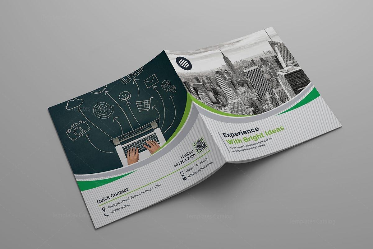 Bi Fold Corporate Company Brochure Template 000588 Template Catalog