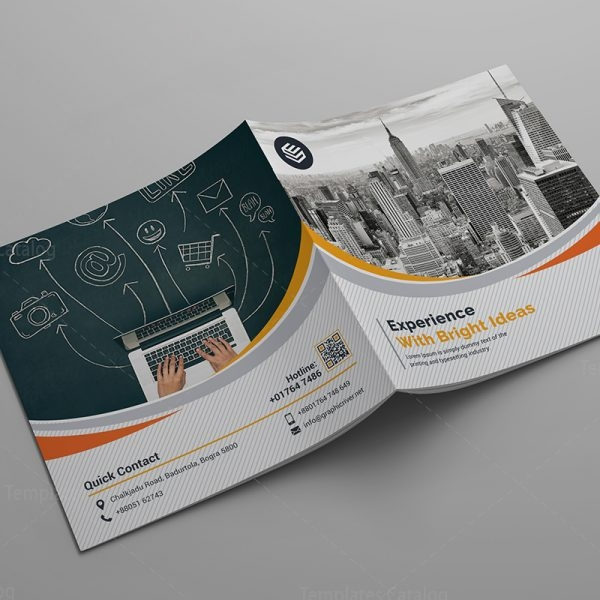 bi fold corporate company brochure template 6