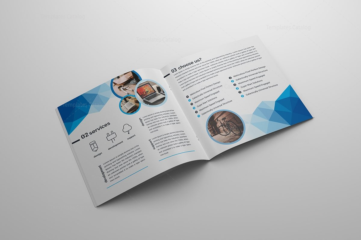 blue stylish corporate brochure template 000587