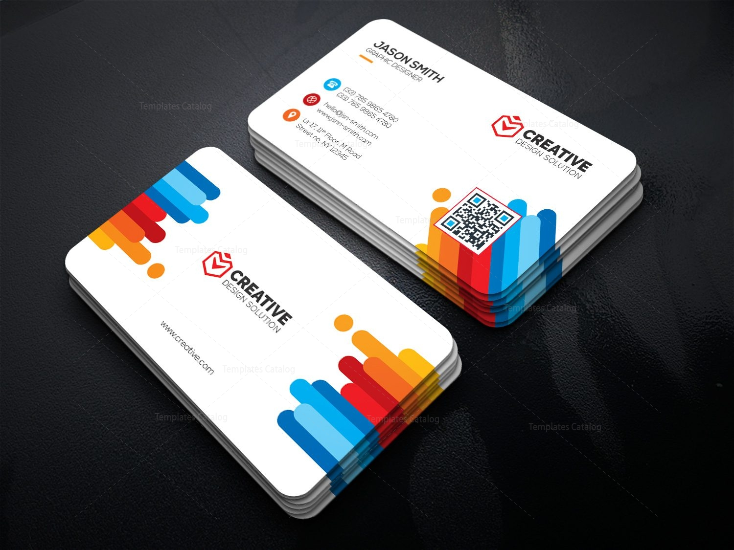 Bright business card template 000478 template catalog for Busniess card template