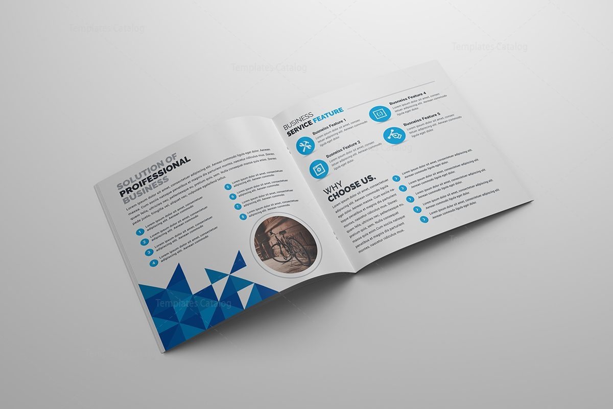 Brochure template with elegant style 000586 template catalog for Elegant brochure templates