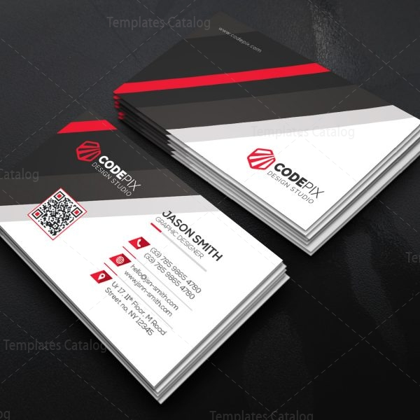 Business card template with stripe shapes 000522 for Business cards shapes