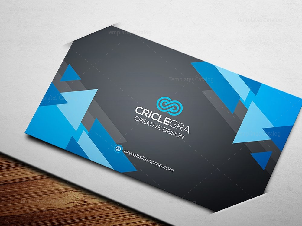 Business Card Template With Triangle Shapes