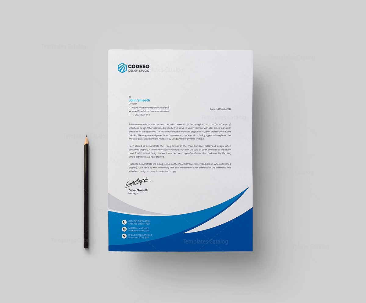 Business letterhead template with modern design 000549 template business letterhead template with modern design 1 accmission Images