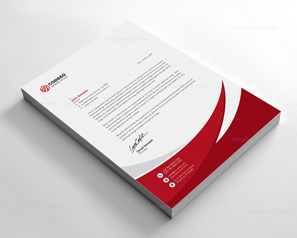 business letterhead template with modern design 4