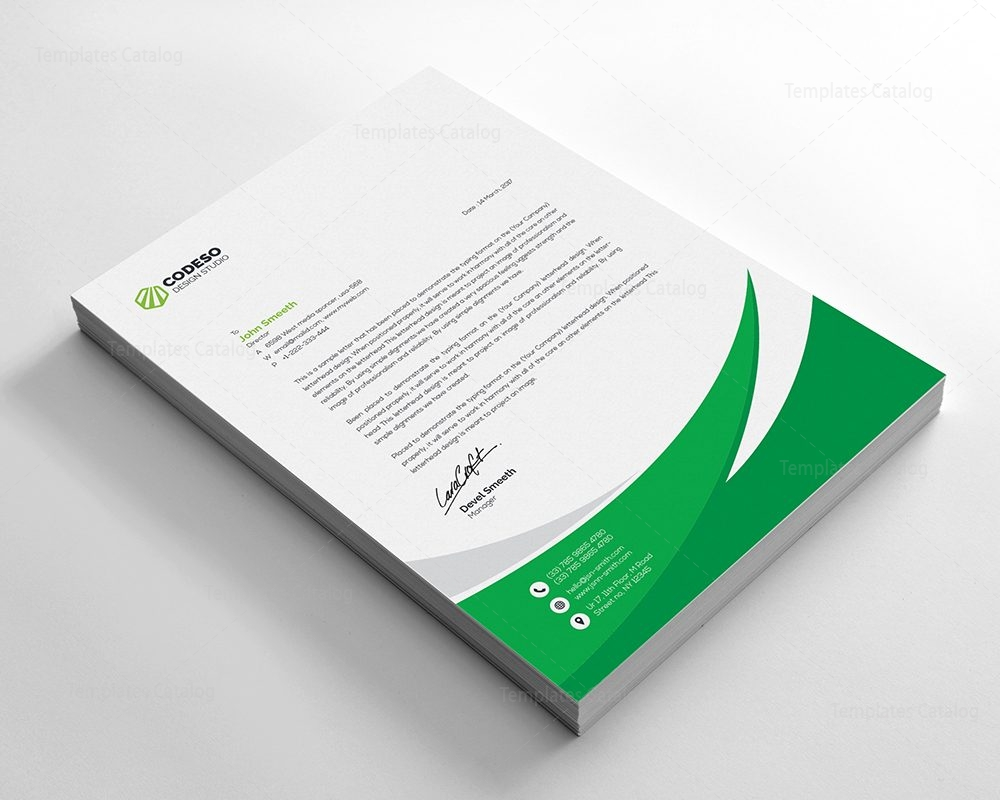 business letterhead template with modern design 000549 template