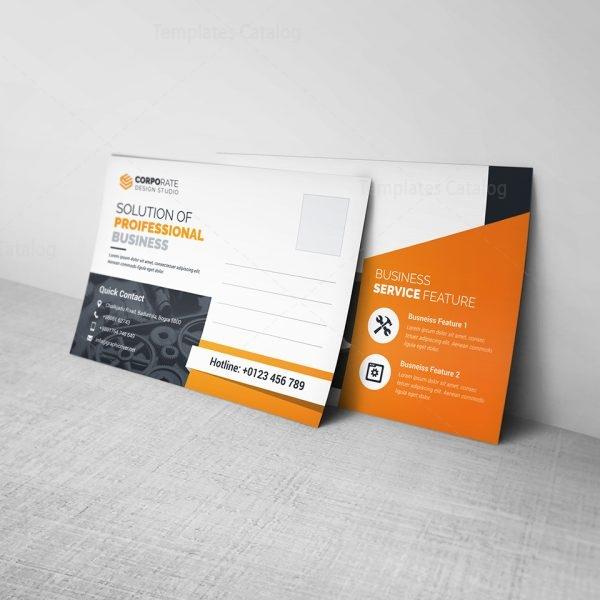 Business Postcard Template Template Catalog - Business postcard template