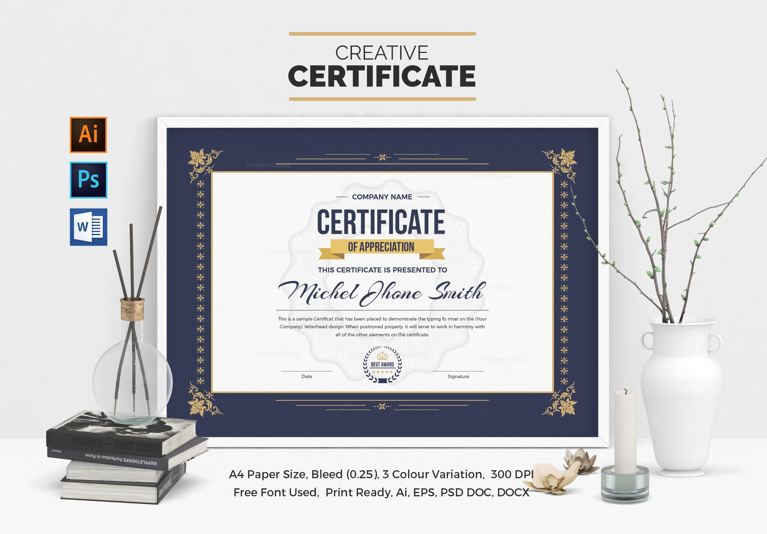 Certificate template with classic design 000507 template catalog certificate template with classic design 1 yelopaper Gallery