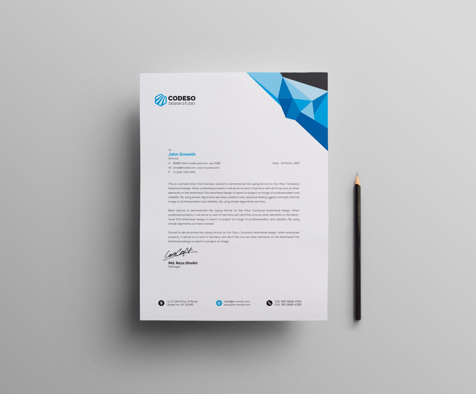 clean letterhead design 000500