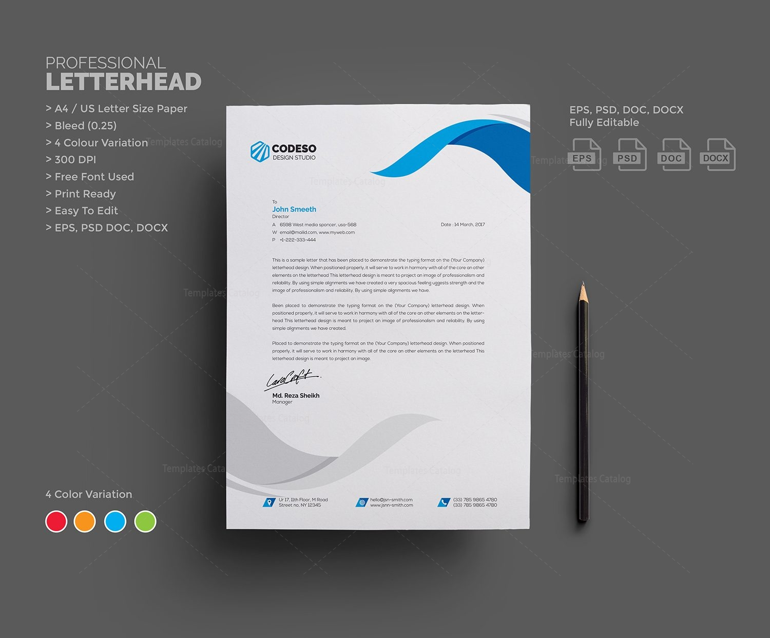 Clear Letterhead Design Template 000541 Template Catalog