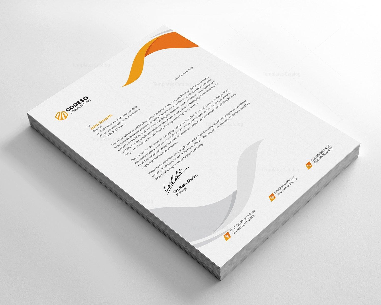 clear letterhead design template 000541 template catalog