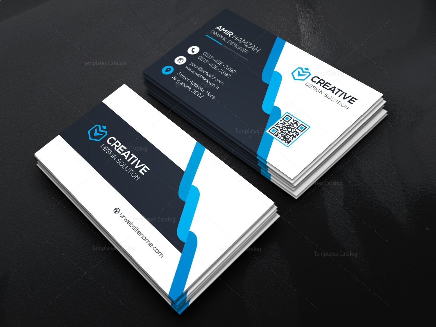 corporate visiting card template 000470 template catalog