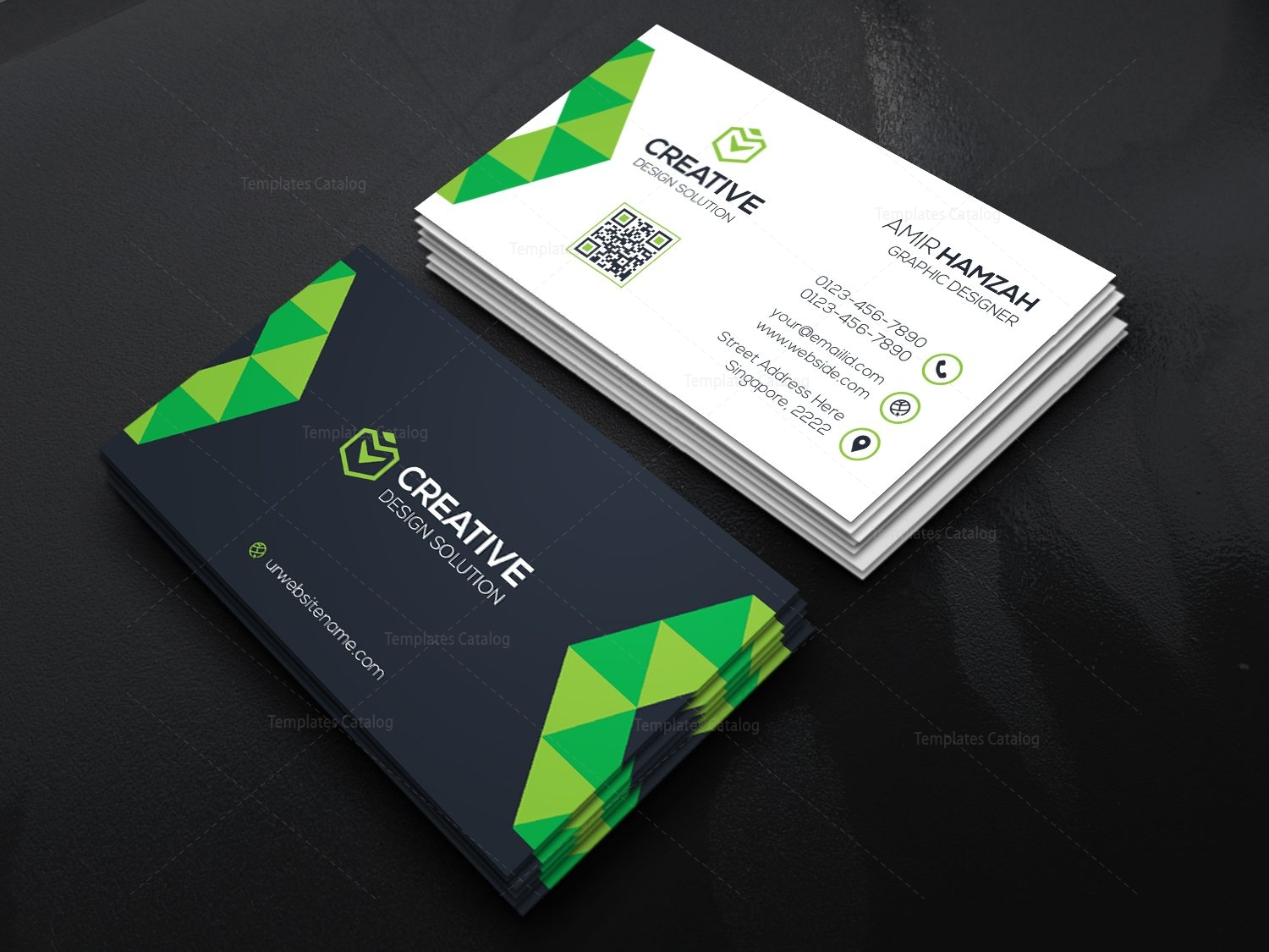 Creative Business Card Design 000469 - Template Catalog