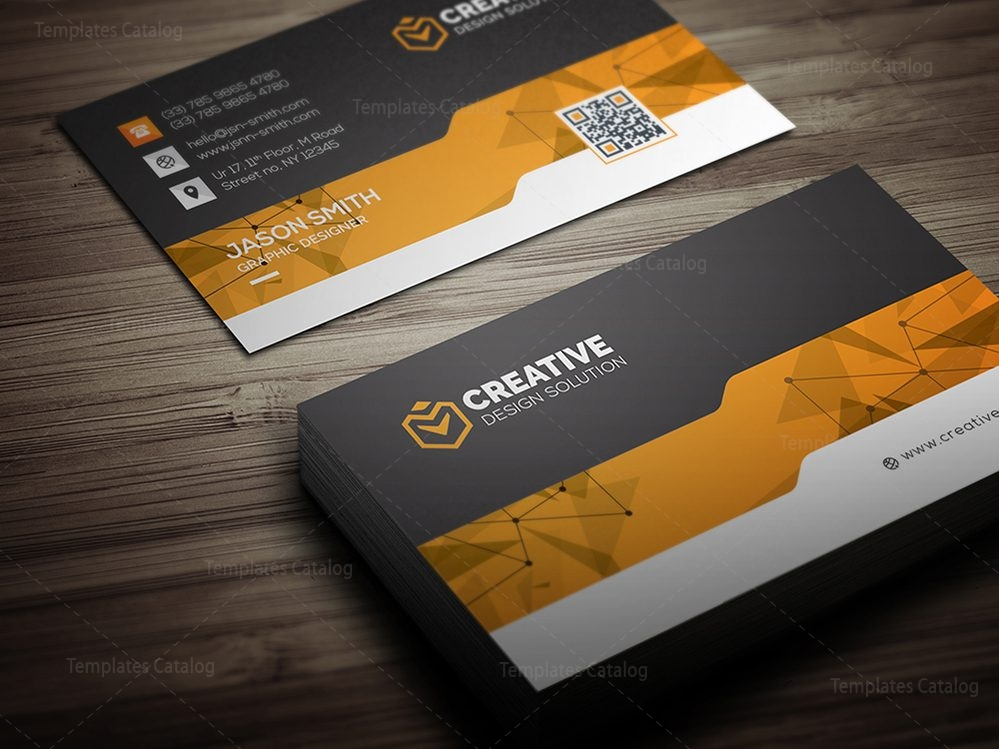 Creative Business Card Design Template 000462 Template Catalog