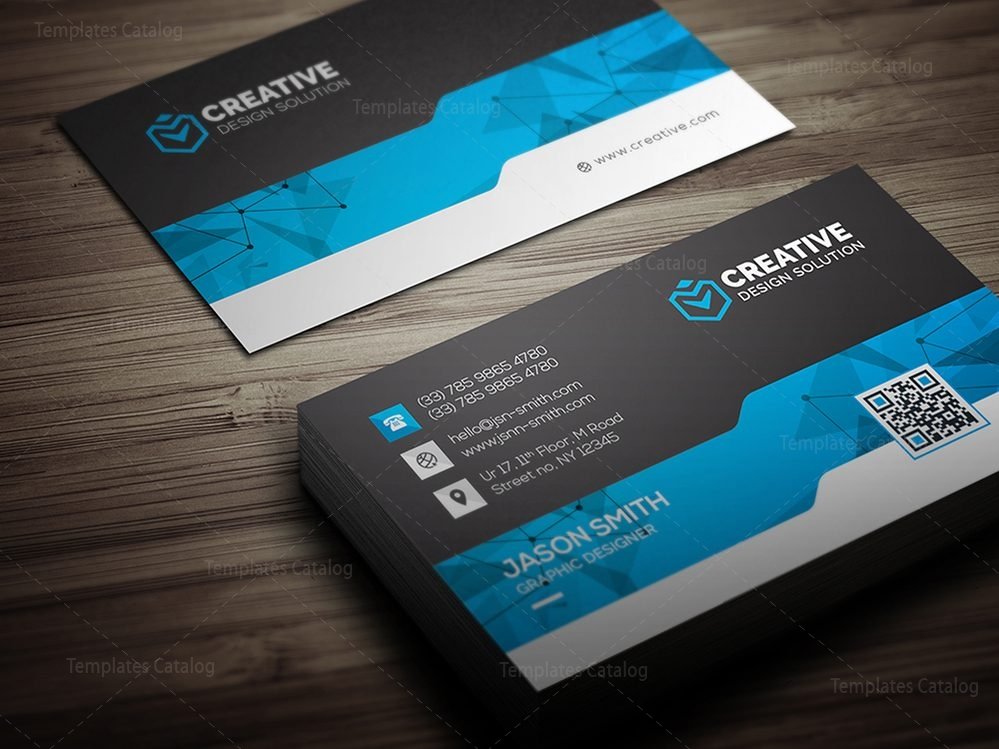 Creative Business Card Design Template Template Catalog - Business card design template