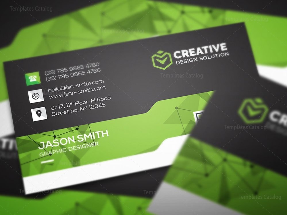 Creative Business Card Design Template 000462 - Template Catalog