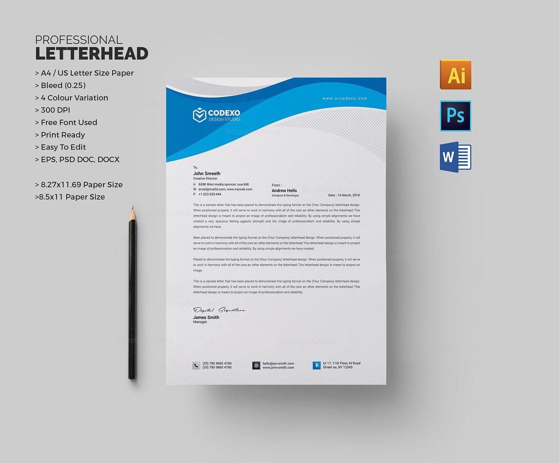 Creative Letterhead Template 000498 - Template Catalog