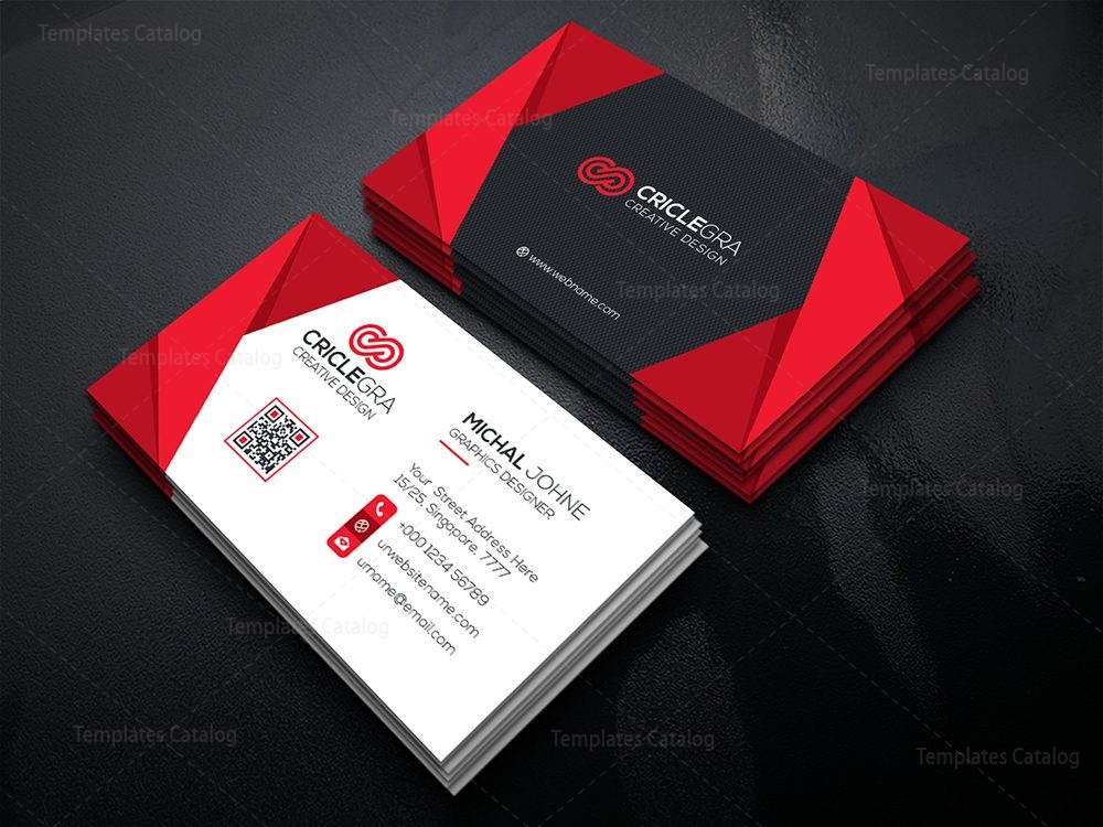 Creative Modern Business Card 000525 - Template Catalog
