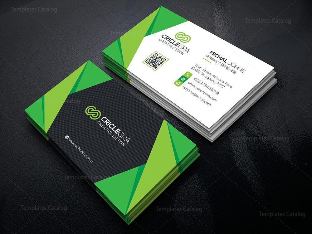 Creative Modern Business Card 000525 - Template Catalog