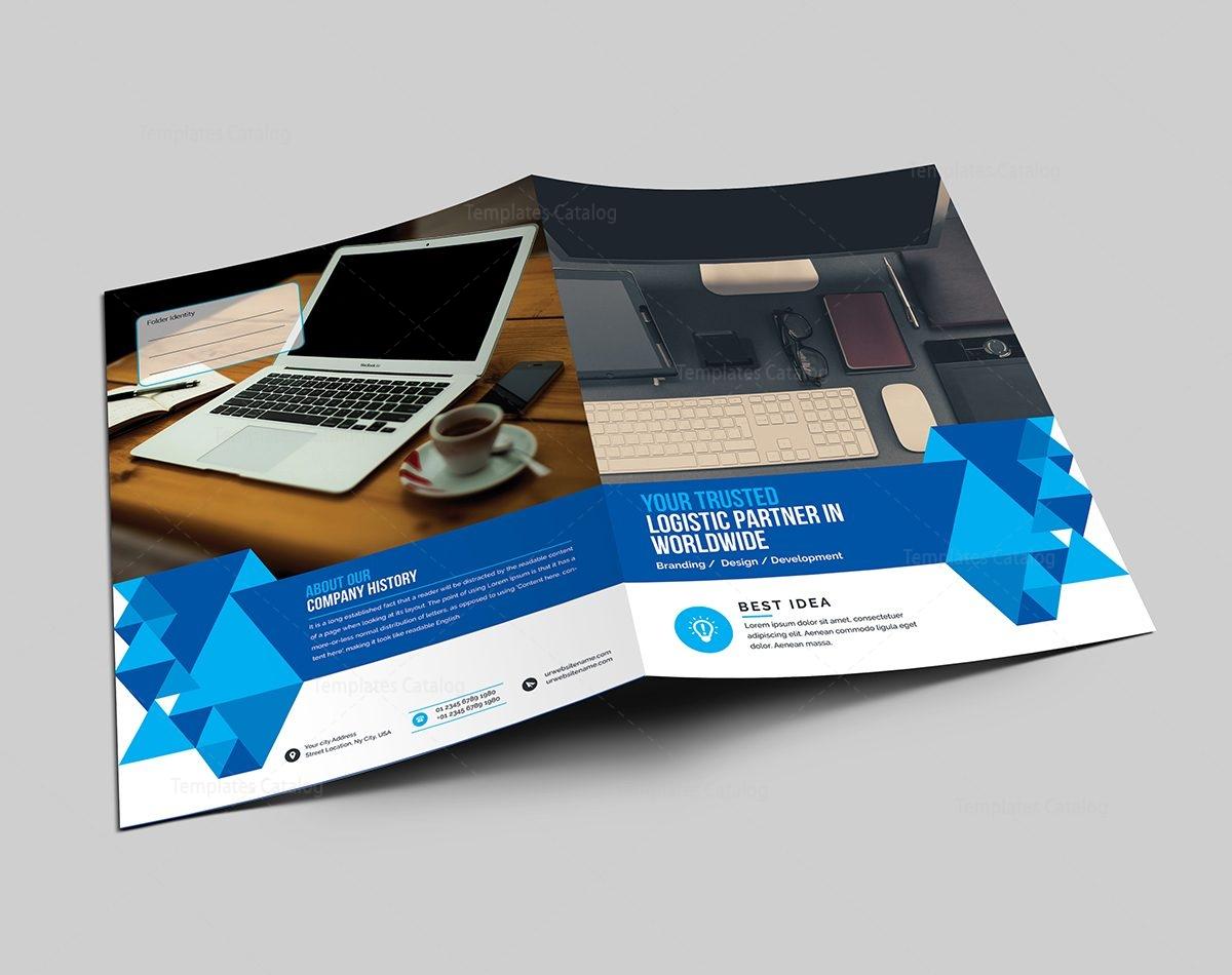 elegant corporate presentation folder template 000570 - template, Presentation templates
