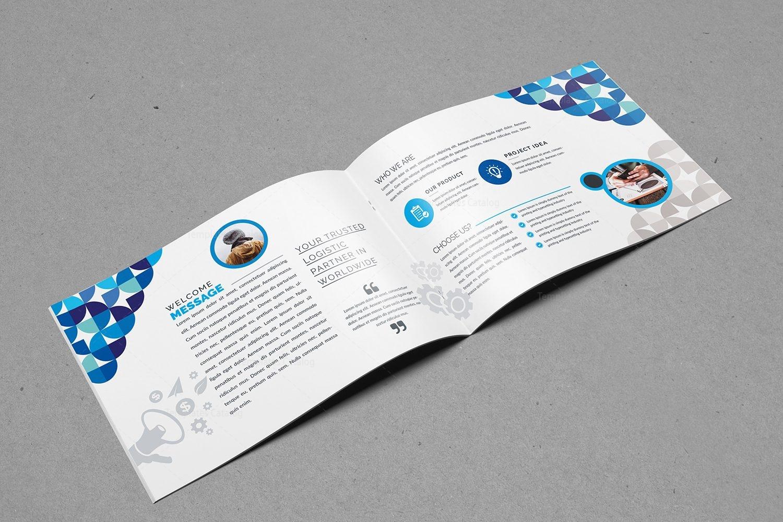 Elegant landscape brochure design template 2 template for Classy brochure design