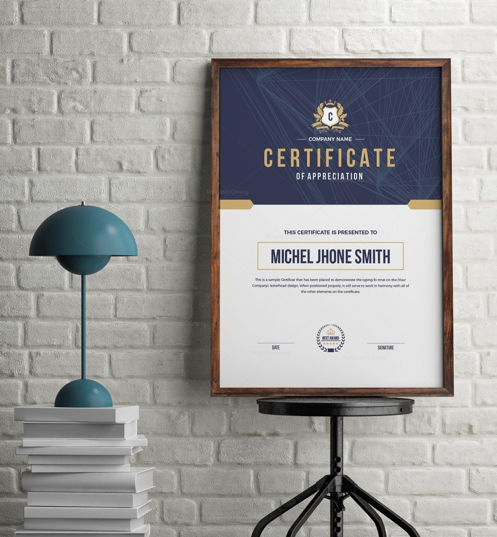 Elegant Portrait Certificate Template 1 - Template Catalog