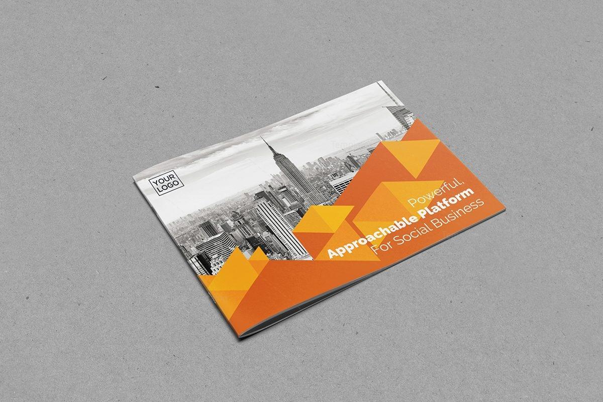 Landscape Brochure Template to Print