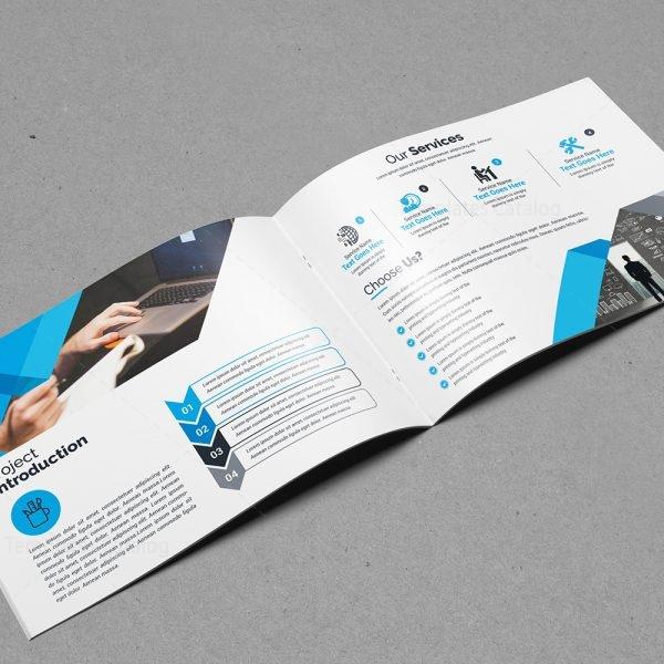 Landscape Brochure Templates: Landscape Bifold Brochure Template Design 000560
