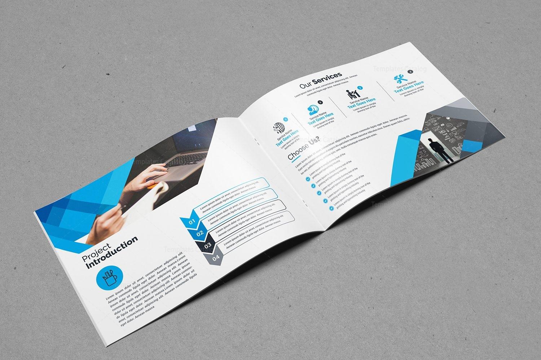 landscape bifold brochure template design 2