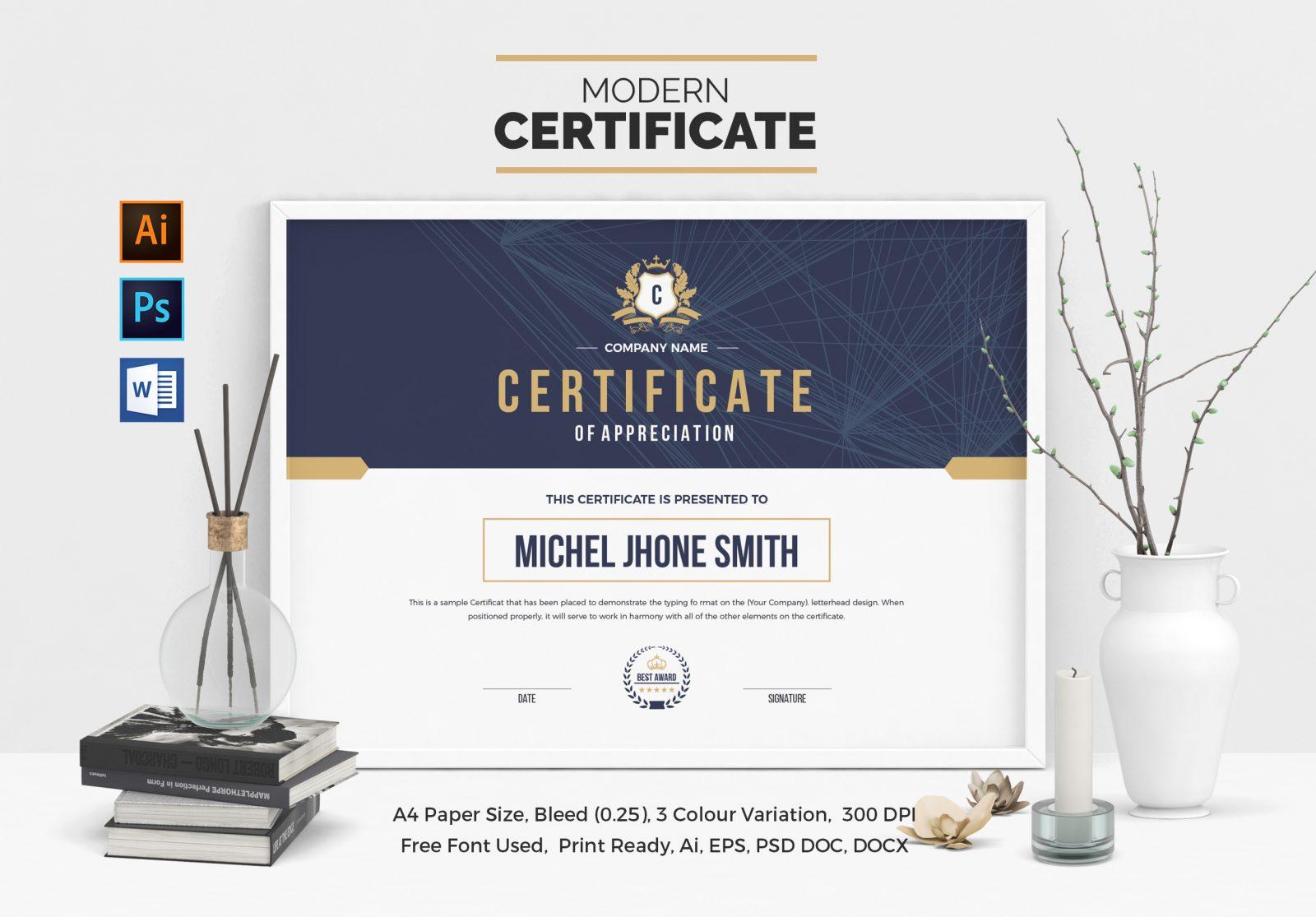 Landscape Certificate Template 000508 Template Catalog